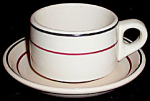 Warwick Tan Striped Cup Saucer