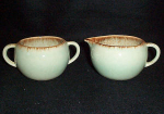 Winfield Azure-brown Trim Sugar And Creamer