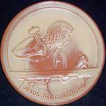 Frankoma Jesus The Carpenter Plaque