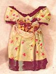 New England Mincemeat Paper Doll Dress
