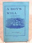 A Boys Will - 1934 Booklet - Douglas Mass