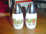 Pyrex/gemco Spice Of Life Salt/pepper Shakers
