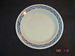 Corelle Blue Plaid Flat Rimmed Soup Bowls