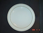 Pyroceram Double Brown Ring Lunch Plates