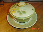 Franciscan Pebble Beach Covered Gravy Boat & Plate