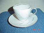 Johann Haviland Silver Wheat Cups And Saucers
