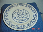 Homer Laughlin Blue And White Dinner Plate