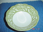 J & G Meakin Renaissance Green Cereal Bowls - Crazed