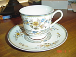 Mikasa Bone China Chippendale Cups And Saucers