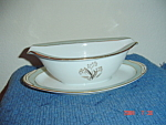 Noritake Carlisle Gravy Boat W/attached Tray