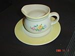 Pfaltzgraff Rosehaven Gravy Boat With Under Plate