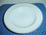 Rosenthal White/silver Rimmed Soup Bowls