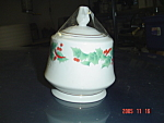 Sango Noel Covered Sugar Bowl