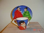 Sango Twilight (Indian Women) Cups And Saucers Sets