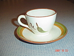 Stangl Orchard Song Cups And Saucers