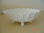 Milk Glass Banana Boat Bowl