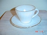 Fire King Anniversary Anchorwhite Swirl Saucers Only