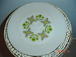 Fire King Meadow Green Dinner Plates
