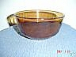Fire King/anchor Amber 2nd Smallest Mixing Bowl