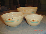 Treasure Craft Tcr9 Set Of 3 Stacking Mixing Bowls