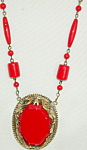 Czech ? Necklace In Red