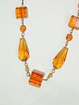 Antique Topaz Glass Necklace