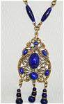 Cobalt Blue Czech Necklace