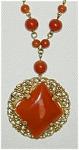 Czech Carnelian & Filigree Necklace