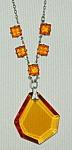 Czech Deco Topaz Glass Necklace