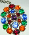 Jewels On A Chain, Multi-colored Pendant