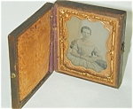 Victorian Photo In Velvet-lined Case