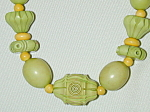 Green & Yellow Carved Beads