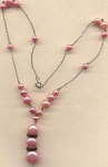 Pink Pearl Deco Necklace