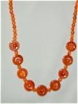Carnelian Deco Beads - Unusual Cut