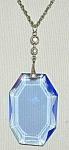 Pretty Blue Faceted Deco Pendant