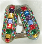 Sparkly Multicolored Dress Clip - Unusual