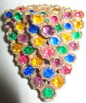 Multi-colored Dress Clip -3 Dimensional