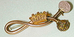 Victorian Gold-filled Figure 8 Pin