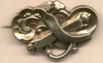 Large Victorian Pin Of Shiny Pinchbeck