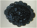 Victorian Mourning Pin With Grapes