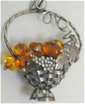 Miniature Sterling Basket- Amber Grapes