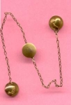 Tiny Goldfilled Heart Buttons Joined By Chain