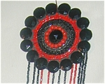Hand Beaded Red-black Dress Deco.