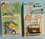 1964 Joke Gift Miniatures On Cards