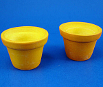 Dollhouse Miniature Clay Planter - Sset Of 2