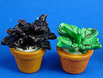Dollhouse Miniature House Plants In Clay Pot