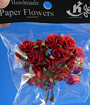 Miniature Paper Red Roses
