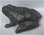 Iron Art Painted Cast Iron Frog