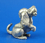 T112 Miniature Metal Begging Puppy Dog