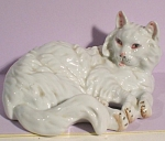 1950s Japan Porcelain Lying Persian Cat
